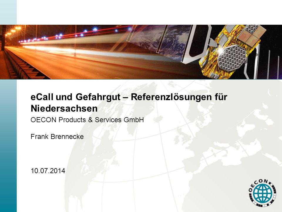 eCall und Gefahrgut – Referenzlösungen für Niedersachsen
