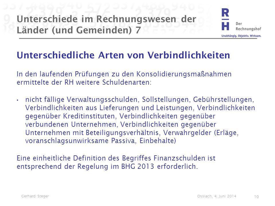 Unterschiede im Rechnungswesen der Länder (und Gemeinden) 7