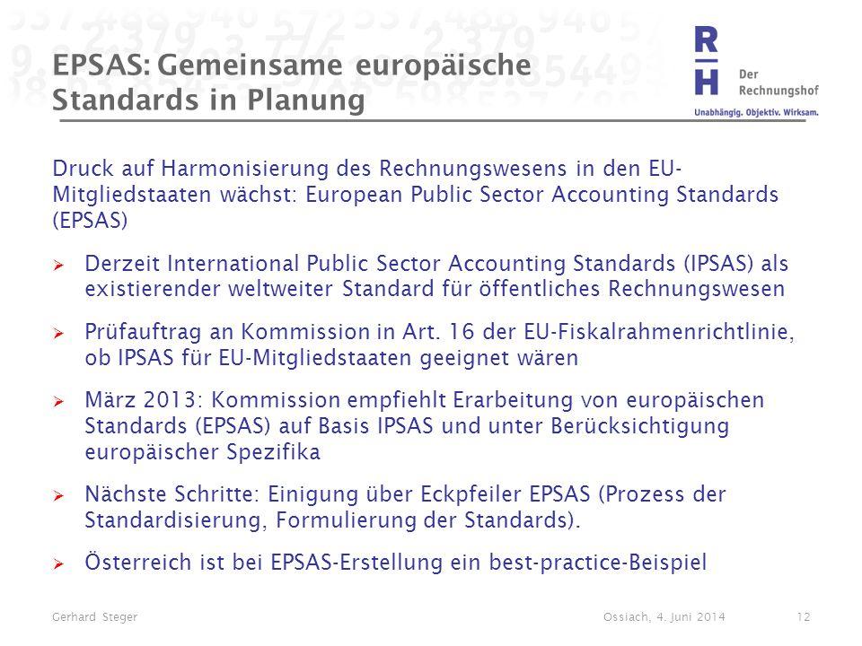 EPSAS: Gemeinsame europäische Standards in Planung
