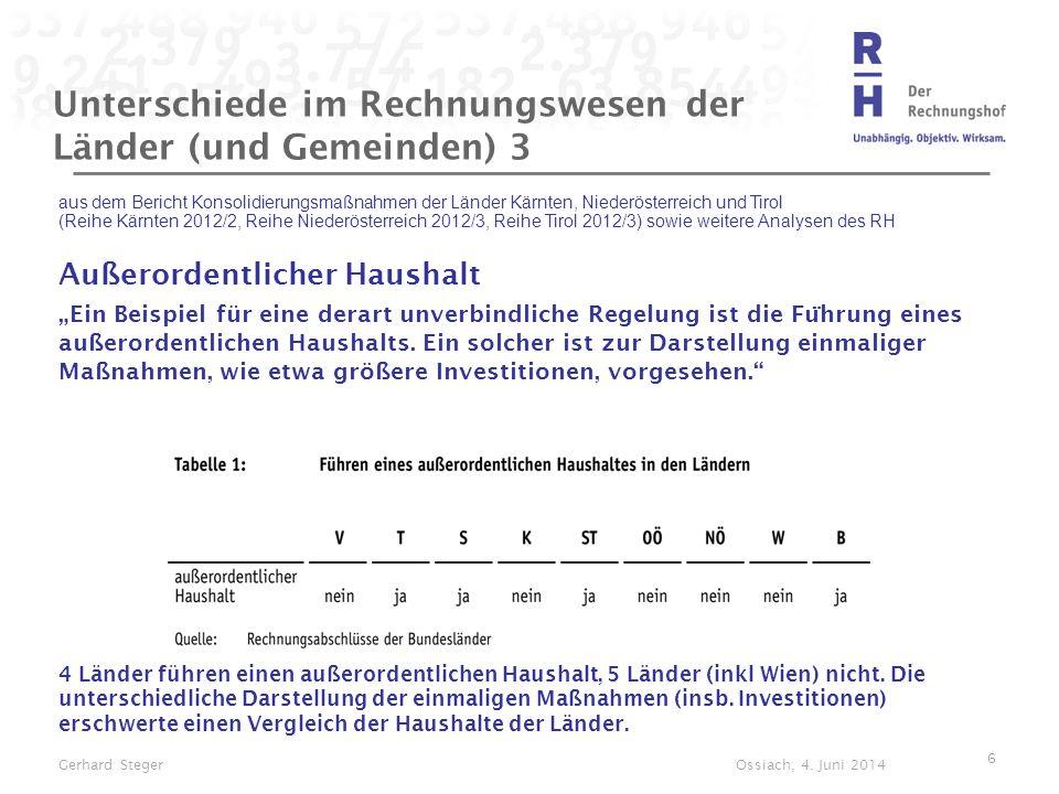 Unterschiede im Rechnungswesen der Länder (und Gemeinden) 3