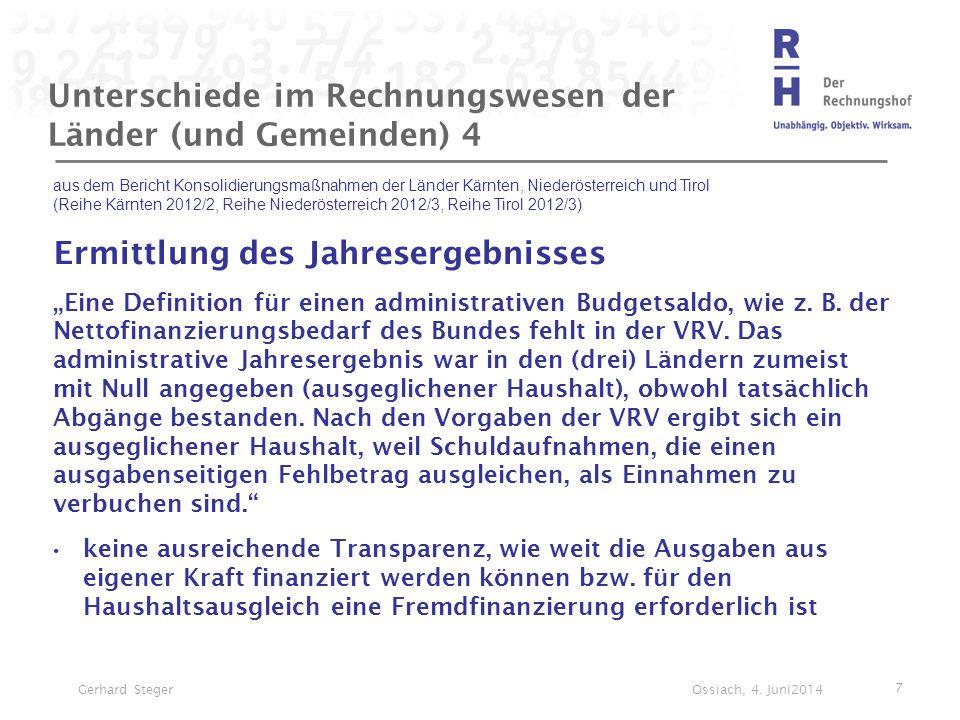 Unterschiede im Rechnungswesen der Länder (und Gemeinden) 4