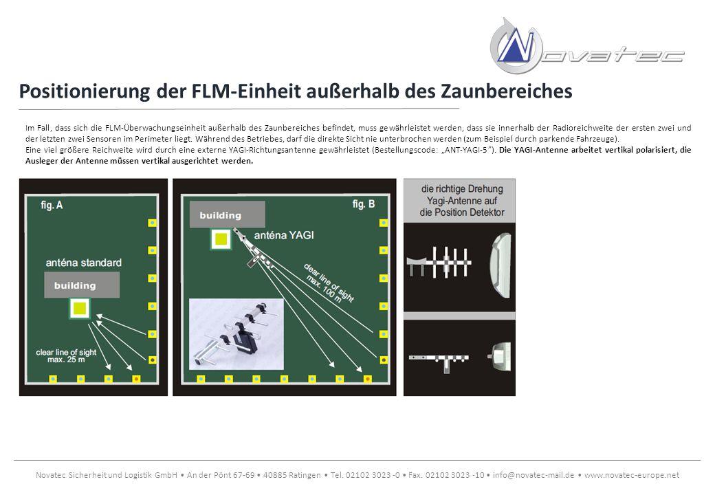 Positionierung der FLM-Einheit außerhalb des Zaunbereiches