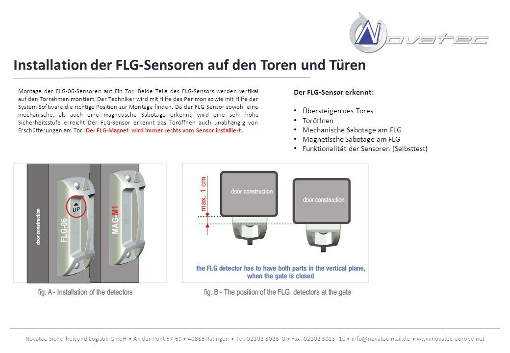 Installation der FLG-Sensoren auf den Toren und Türen