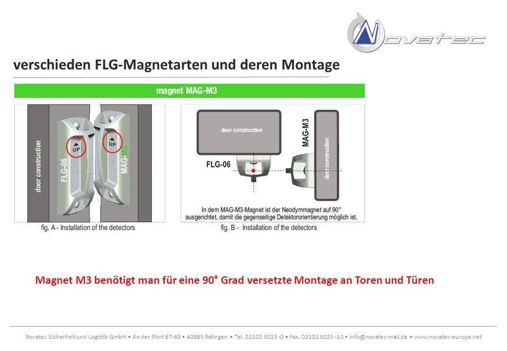 verschieden FLG-Magnetarten und deren Montage