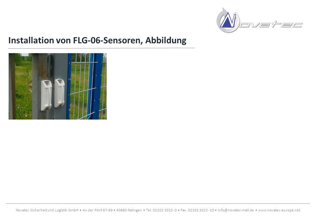 Installation von FLG-06-Sensoren, Abbildung