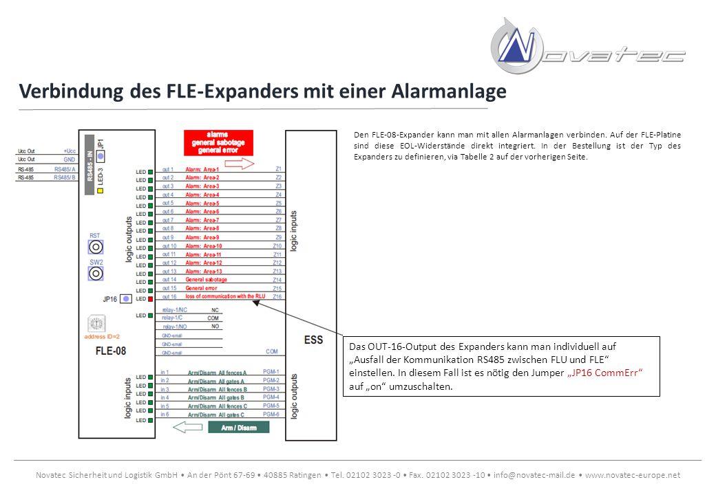 Verbindung des FLE-Expanders mit einer Alarmanlage