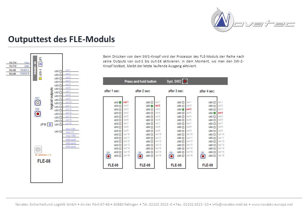 Outputtest des FLE-Moduls