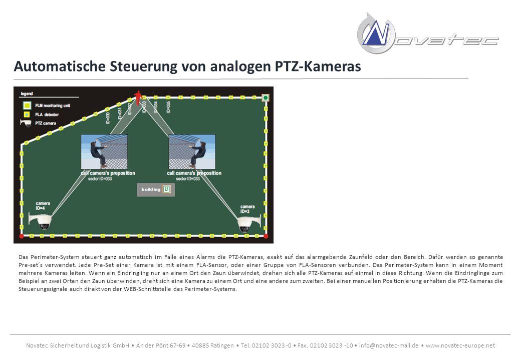 Automatische Steuerung von analogen PTZ-Kameras