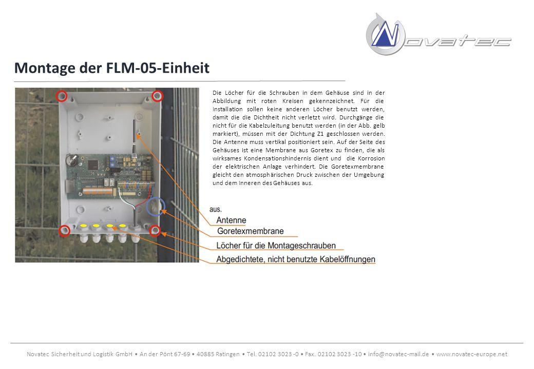Montage der FLM-05-Einheit