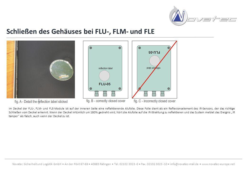 Schließen des Gehäuses bei FLU-, FLM- und FLE