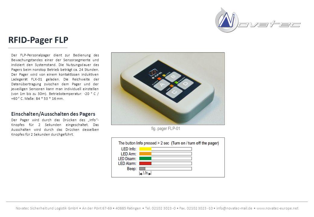 RFID-Pager FLP Einschalten/Ausschalten des Pagers