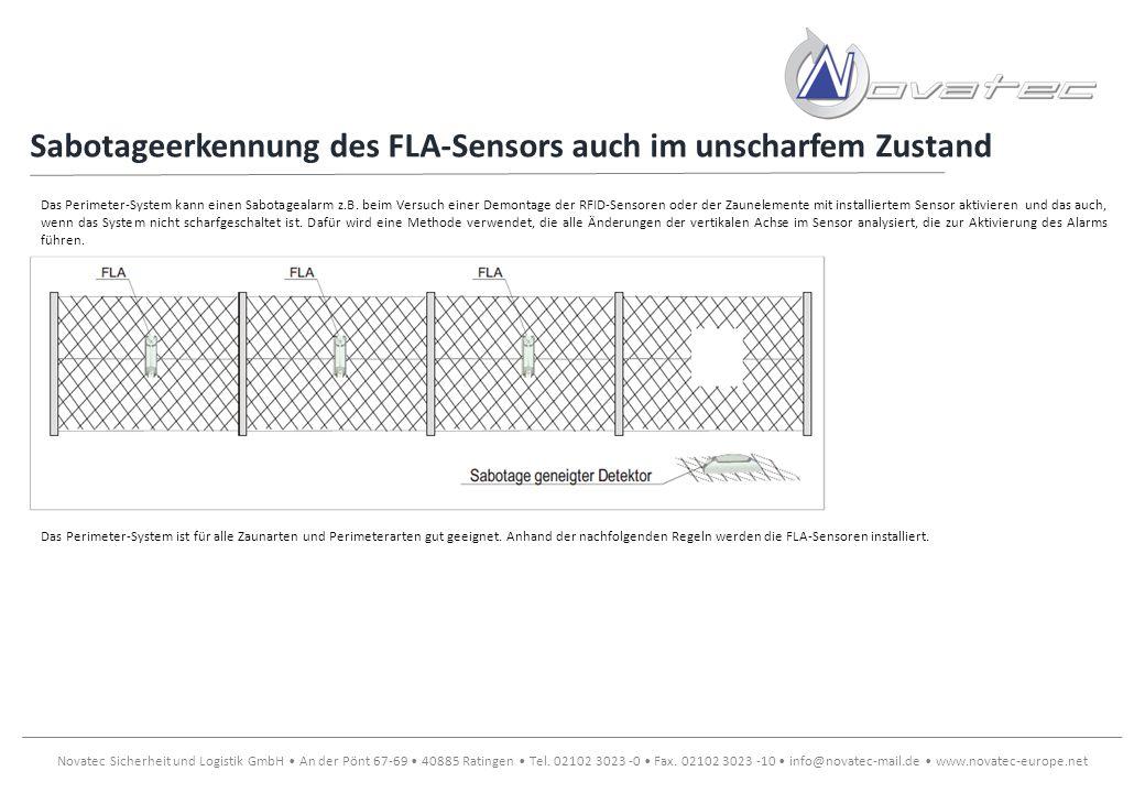 Sabotageerkennung des FLA-Sensors auch im unscharfem Zustand