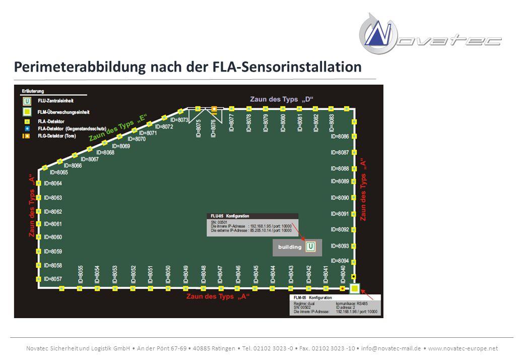 Perimeterabbildung nach der FLA-Sensorinstallation