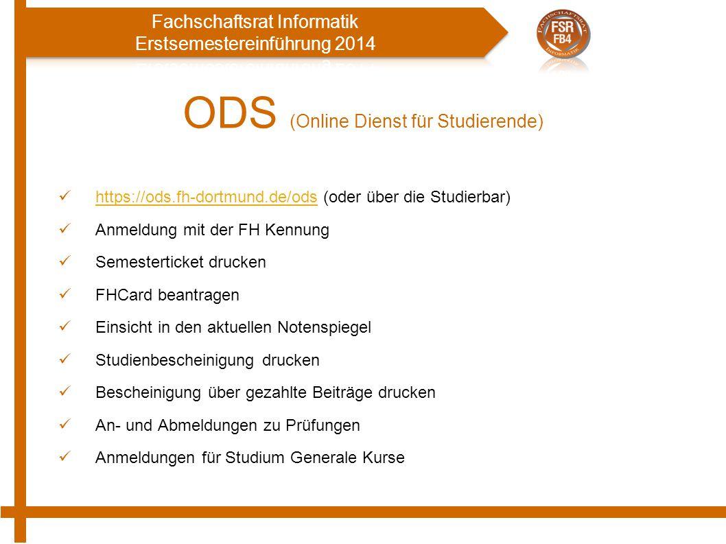 ODS (Online Dienst für Studierende)