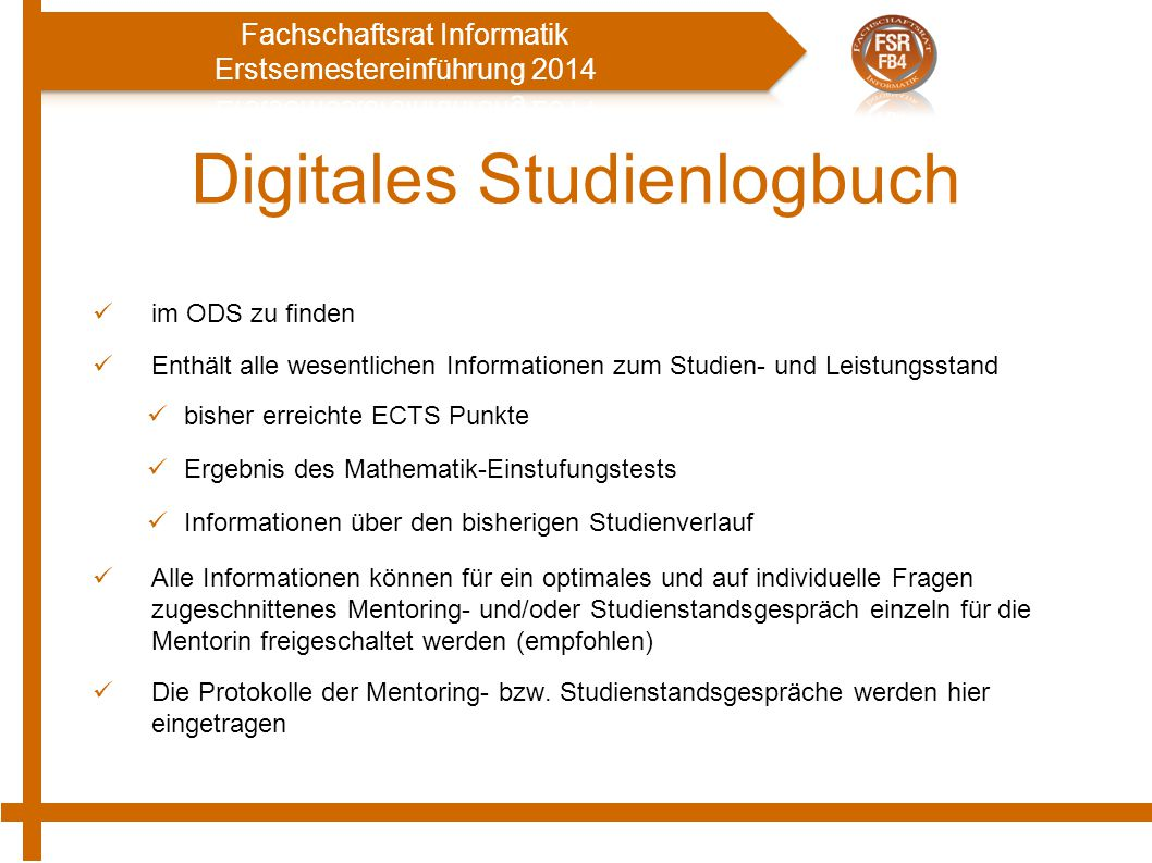 Digitales Studienlogbuch