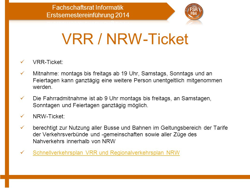 VRR / NRW-Ticket VRR-Ticket: