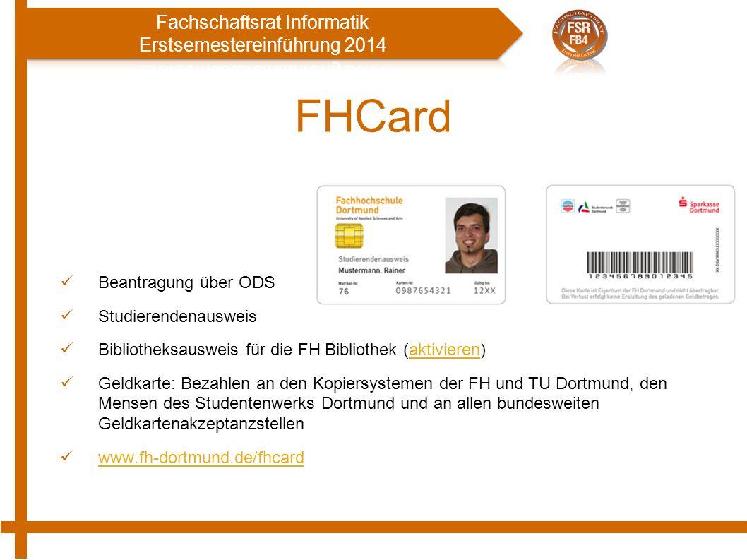 FHCard Beantragung über ODS Studierendenausweis