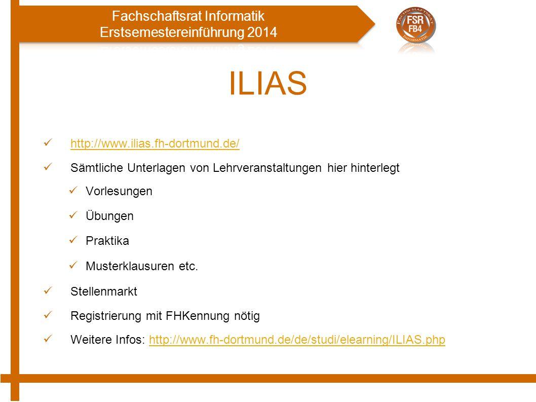 ILIAS http://www.ilias.fh-dortmund.de/