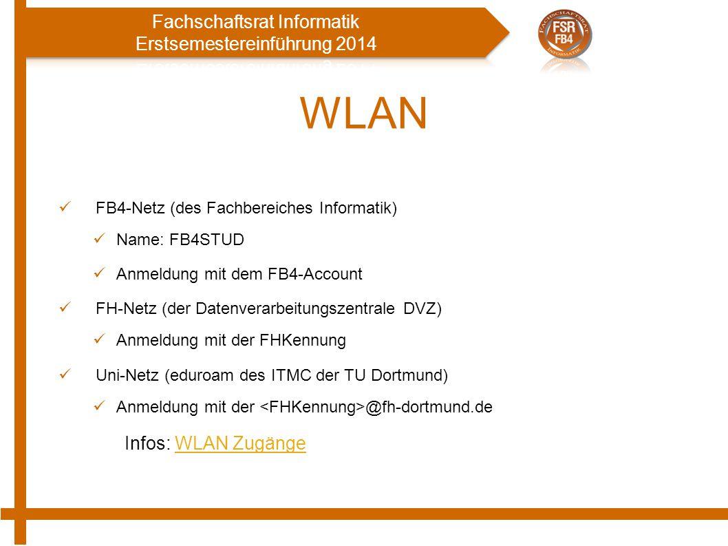 WLAN Infos: WLAN Zugänge FB4-Netz (des Fachbereiches Informatik)