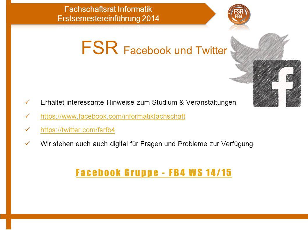 FSR Facebook und Twitter
