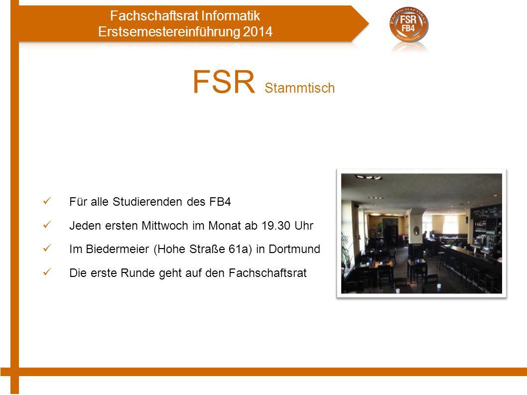 FSR Stammtisch Für alle Studierenden des FB4