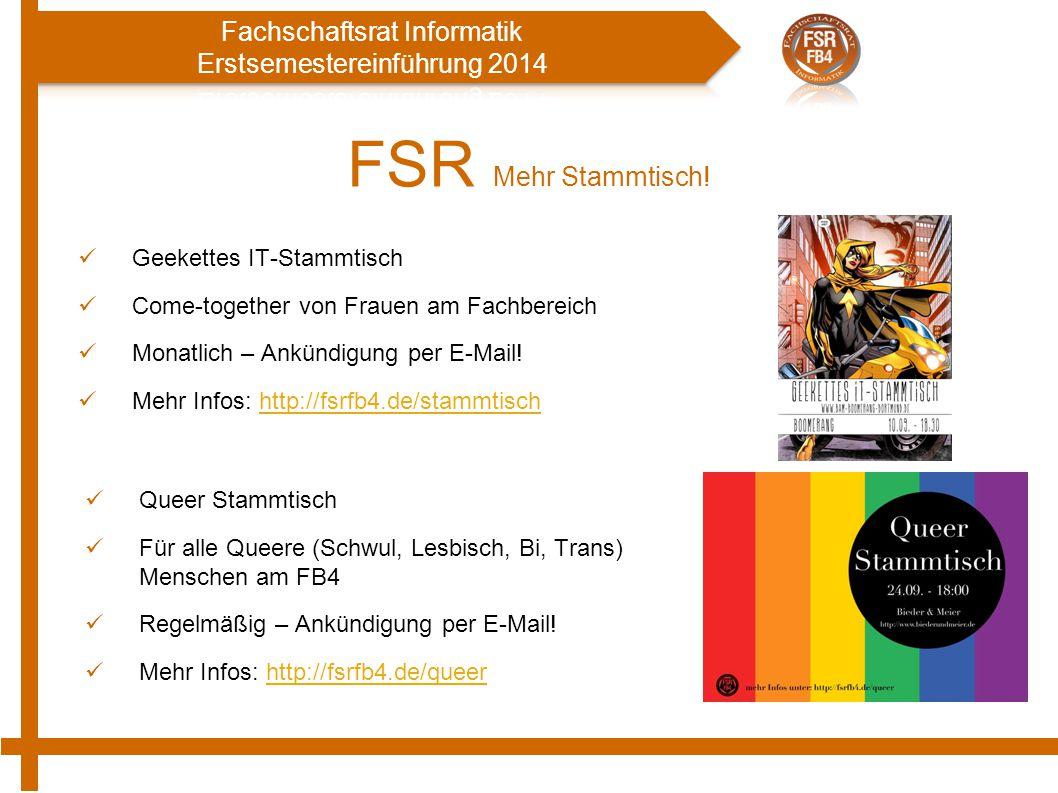 FSR Mehr Stammtisch! Geekettes IT-Stammtisch