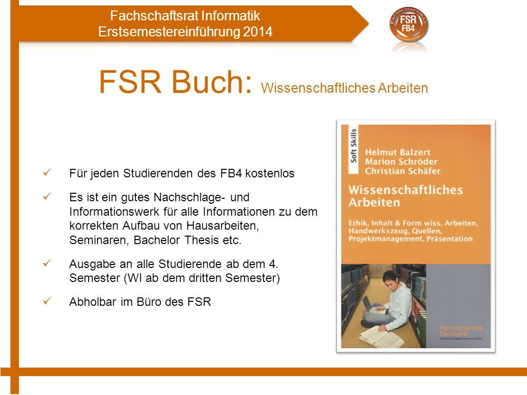 FSR Buch: Wissenschaftliches Arbeiten