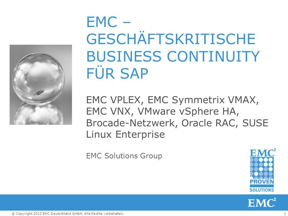 EMC – GESCHÄFTSKRITISCHE BUSINESS CONTINUITY FÜR SAP