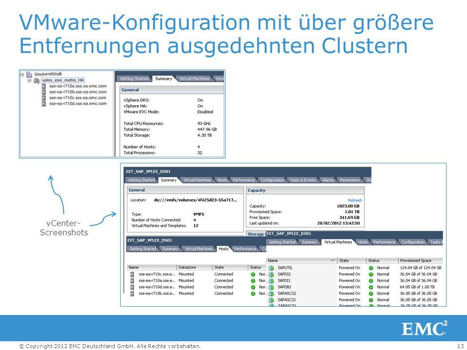 VMware-Konfiguration mit über größere Entfernungen ausgedehnten Clustern
