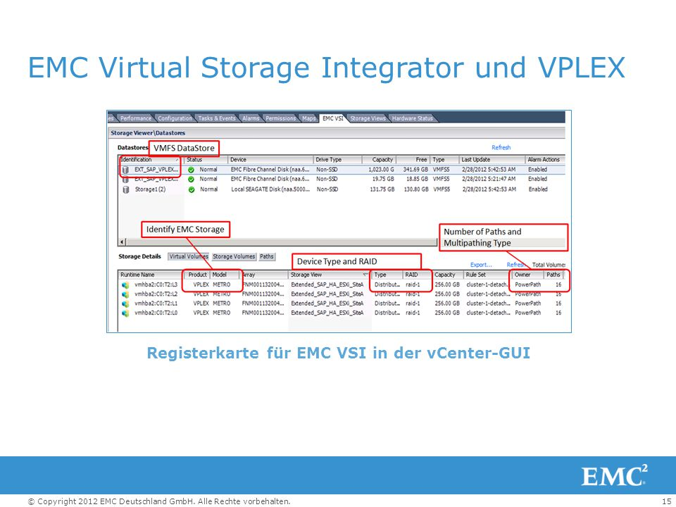 EMC Virtual Storage Integrator und VPLEX