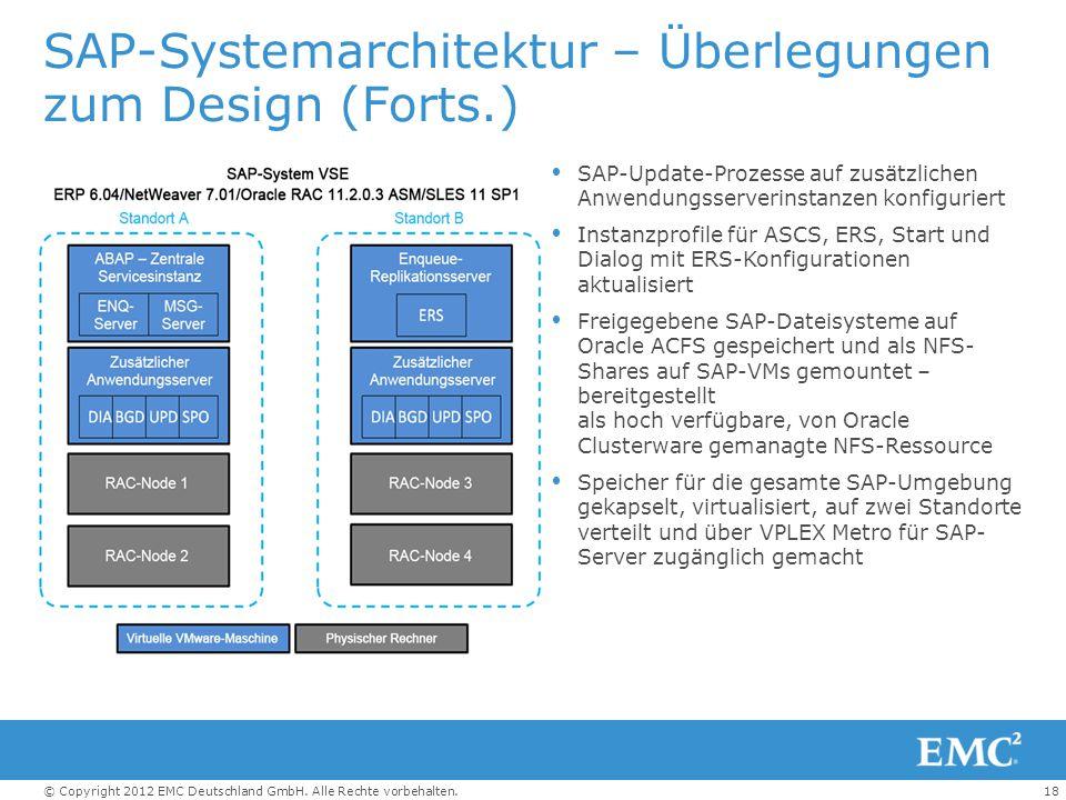 SAP-Systemarchitektur – Überlegungen zum Design (Forts.)