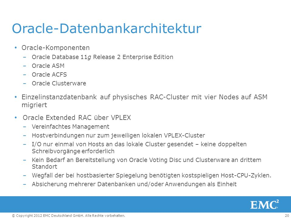 Oracle-Datenbankarchitektur