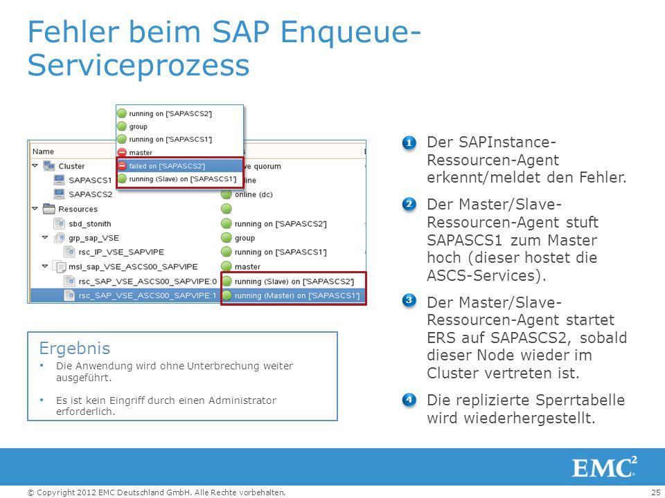 Fehler beim SAP Enqueue-Serviceprozess