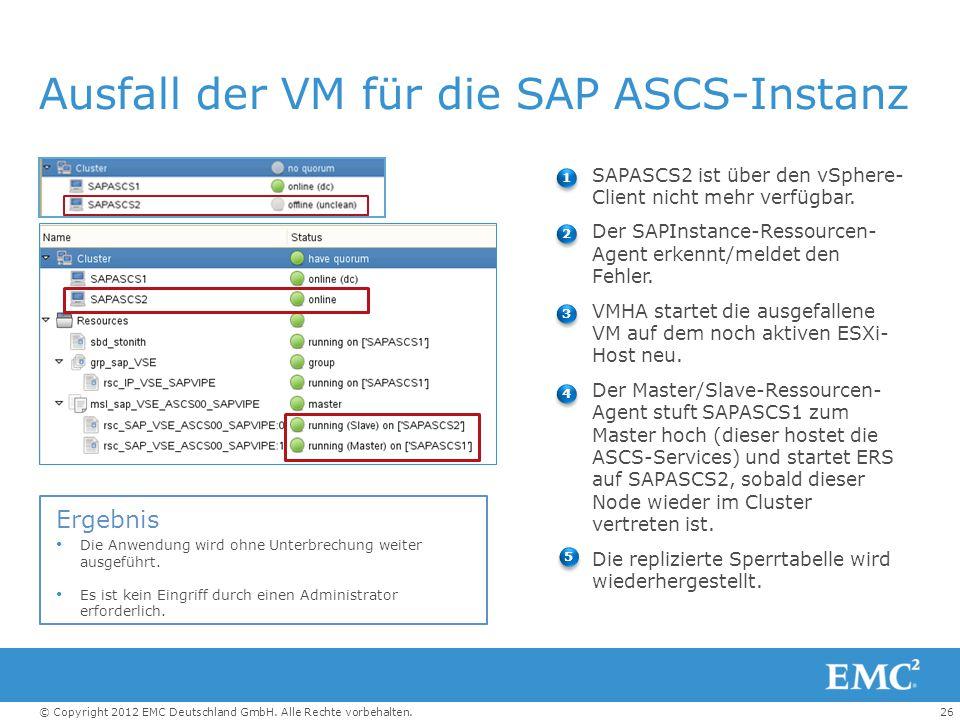 Ausfall der VM für die SAP ASCS-Instanz