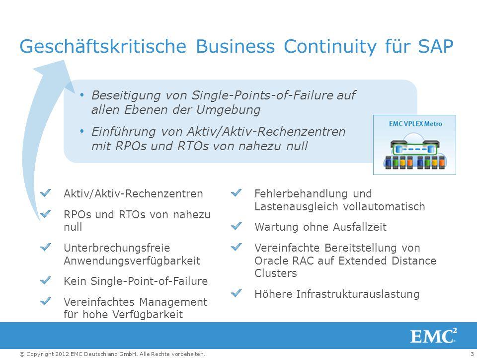 Geschäftskritische Business Continuity für SAP