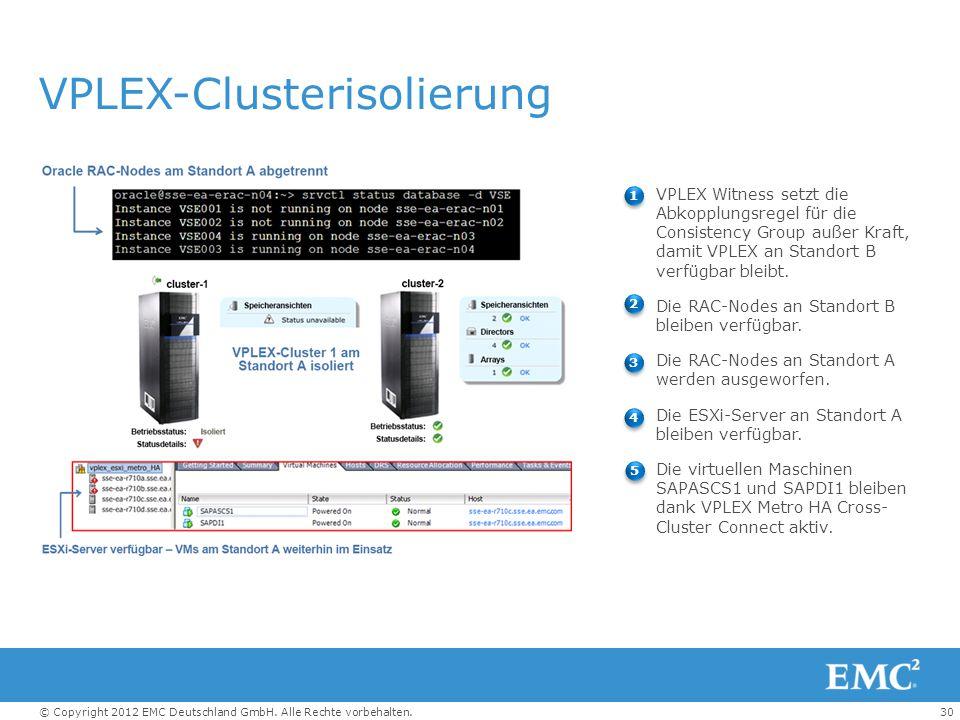 VPLEX-Clusterisolierung
