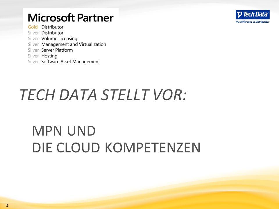Tech Data stellt vor: MPN und die Cloud kompetenzen