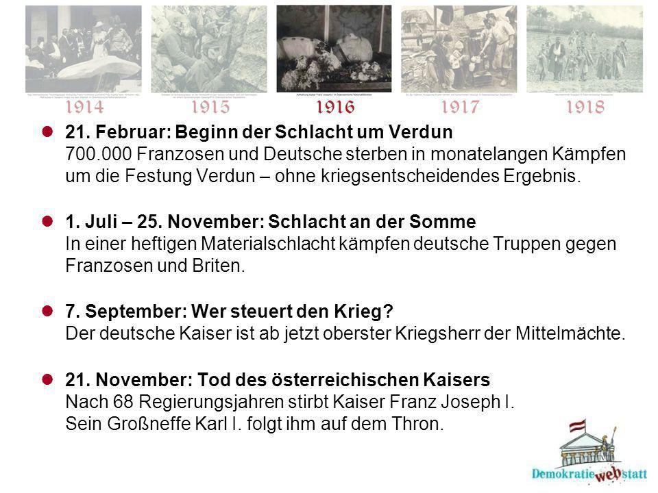 21. Februar: Beginn der Schlacht um Verdun 700