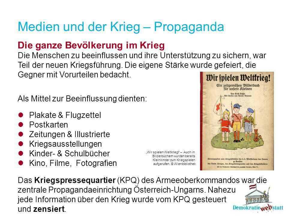 Medien und der Krieg – Propaganda