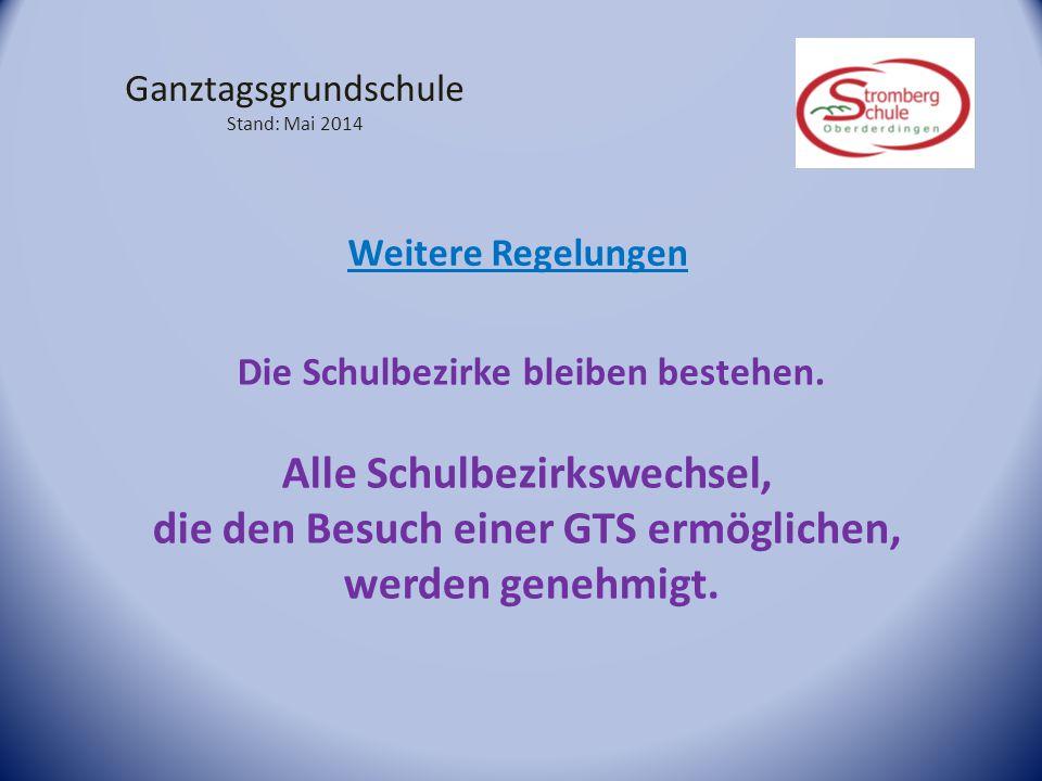 Ganztagsgrundschule Stand: Mai 2014