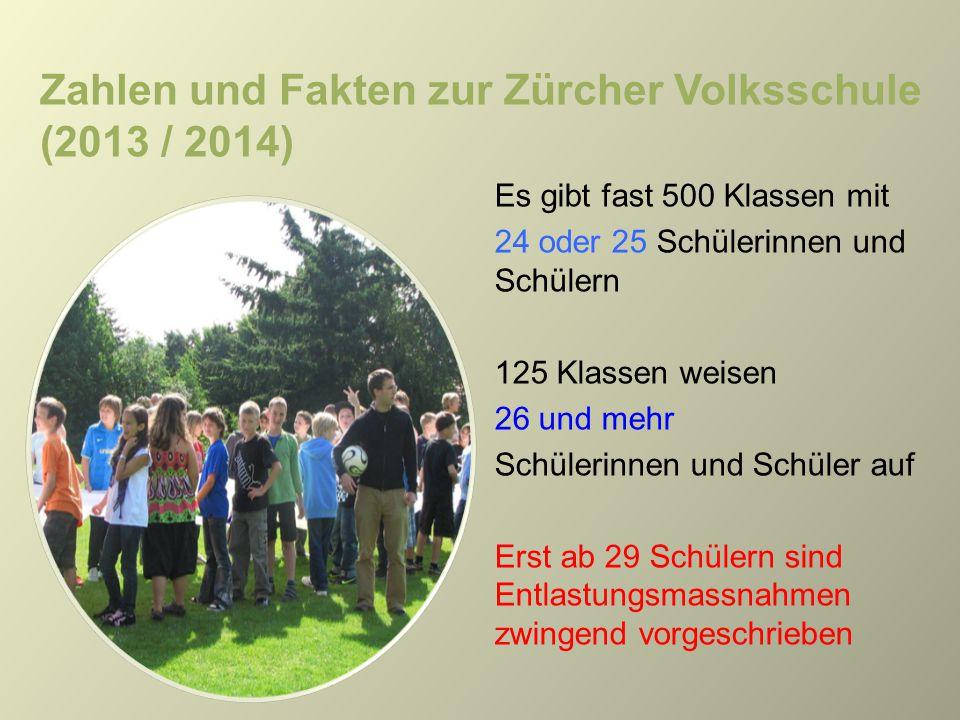 Zahlen und Fakten zur Zürcher Volksschule (2013 / 2014)
