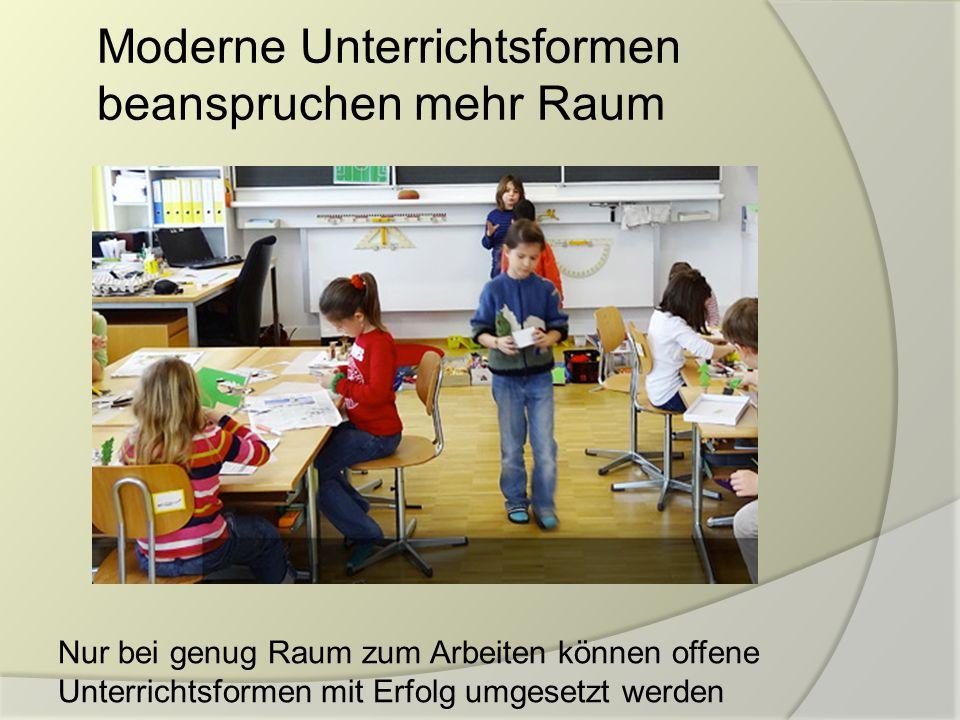 Moderne Unterrichtsformen beanspruchen mehr Raum