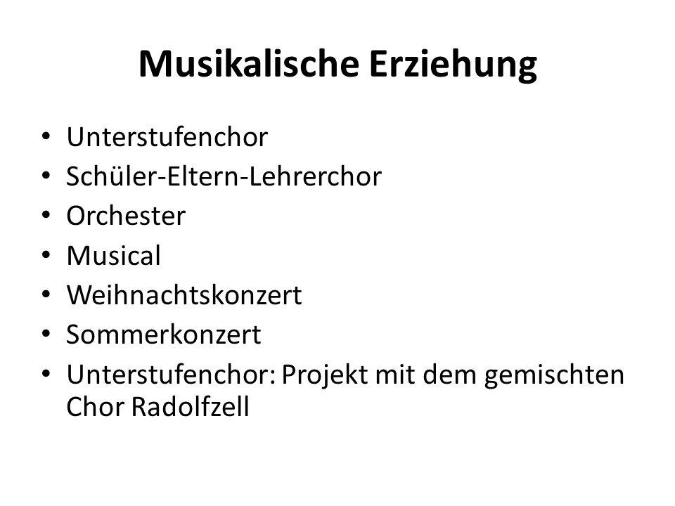 Musikalische Erziehung