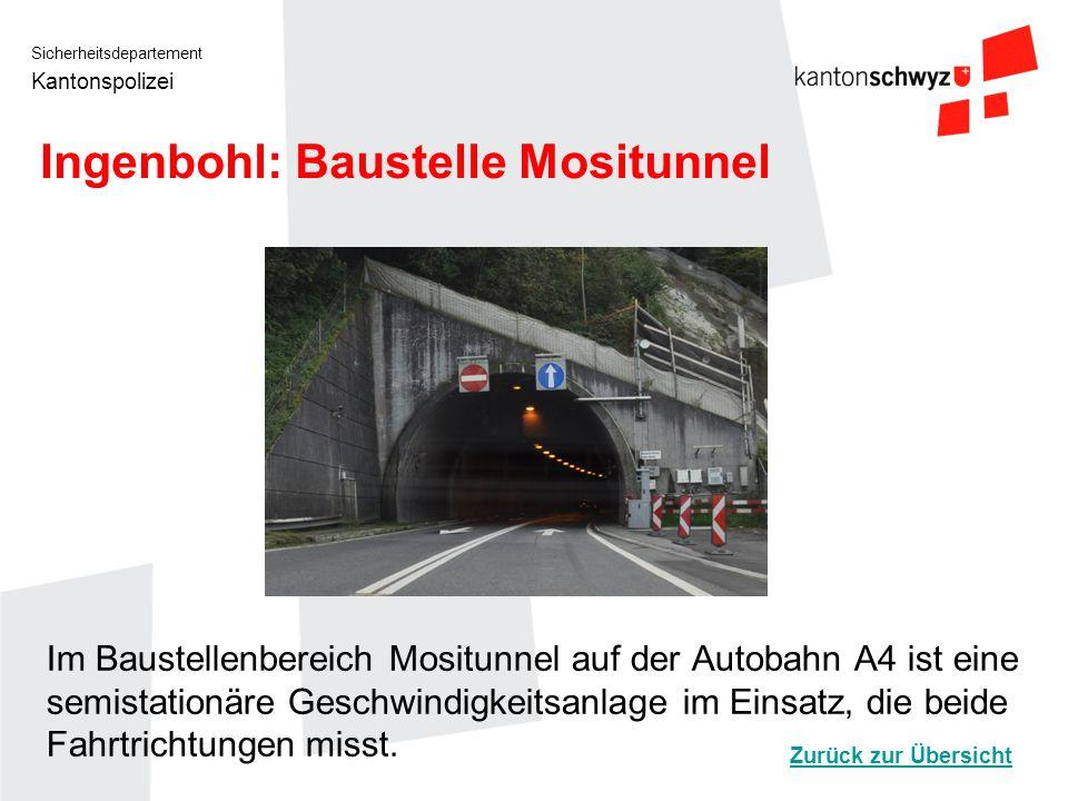 Ingenbohl: Baustelle Mositunnel