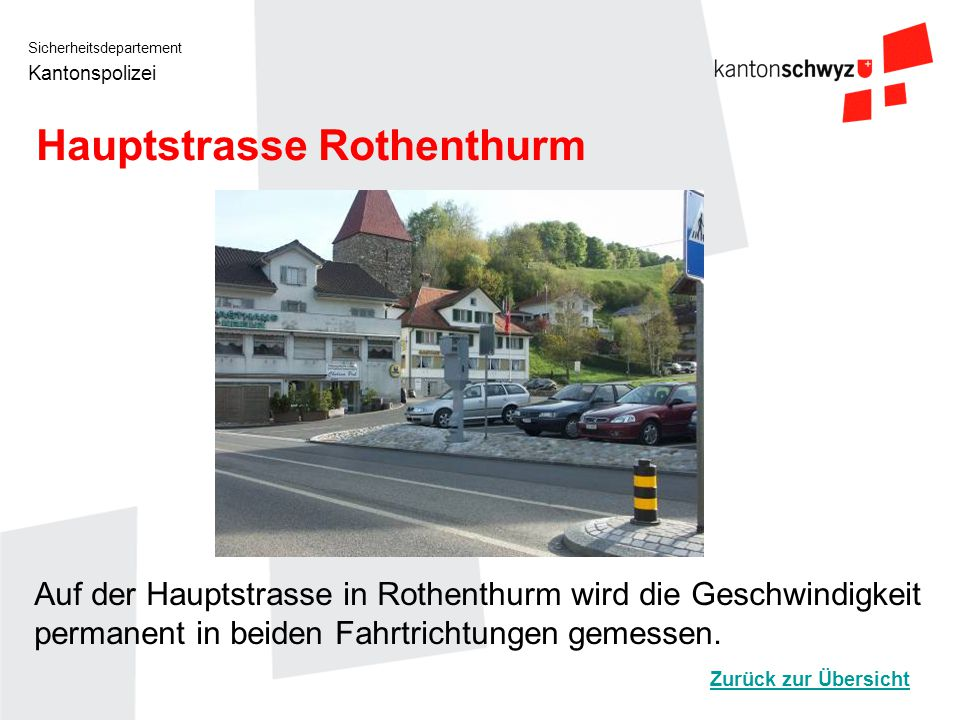 Hauptstrasse Rothenthurm