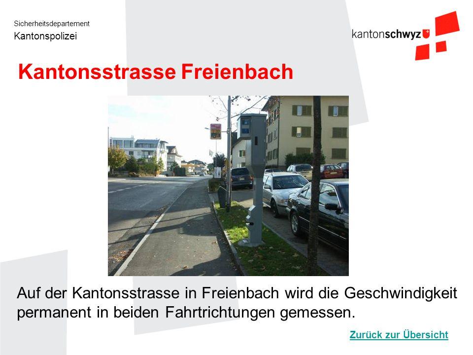 Kantonsstrasse Freienbach