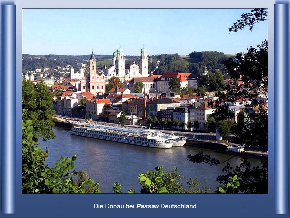 Die Donau bei Passau Deutschland