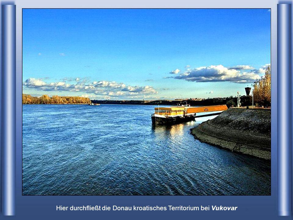 Hier durchfließt die Donau kroatisches Territorium bei Vukovar