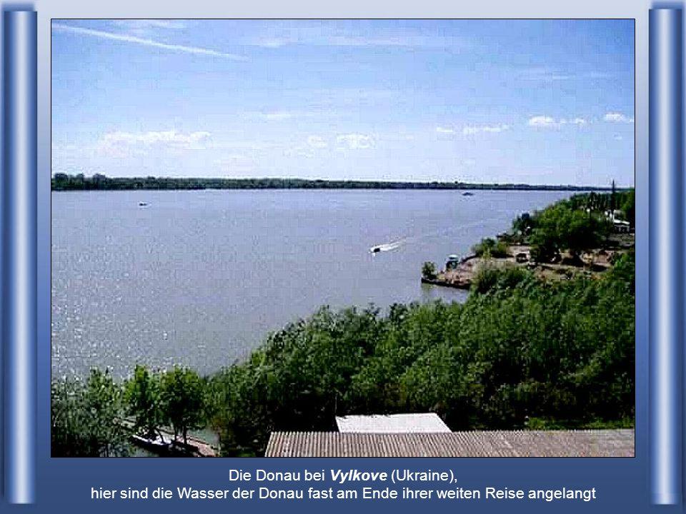 Die Donau bei Vylkove (Ukraine), hier sind die Wasser der Donau fast am Ende ihrer weiten Reise angelangt