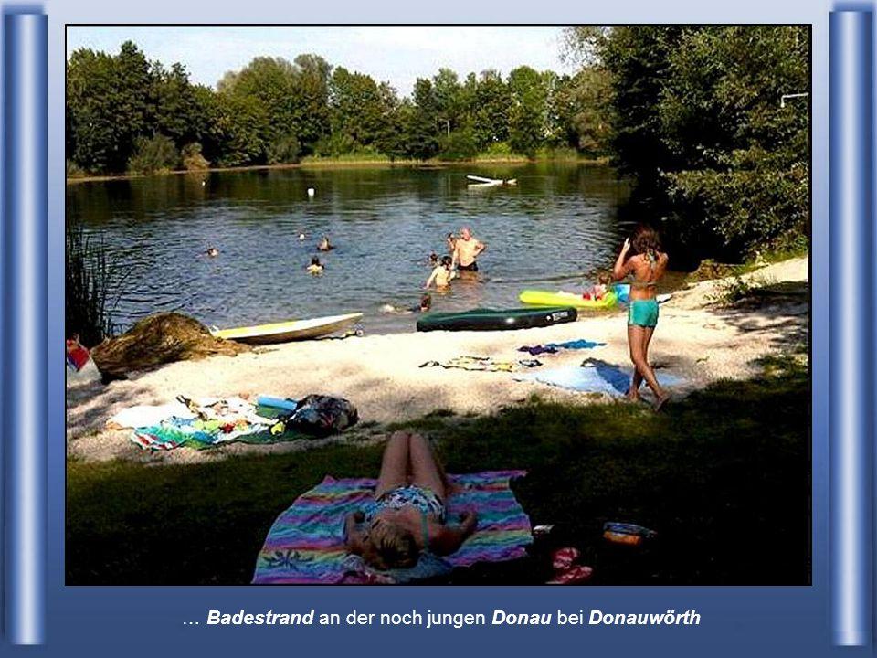 … Badestrand an der noch jungen Donau bei Donauwörth